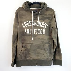 Abercrombie & Fitch Camo Distressed Hoodie